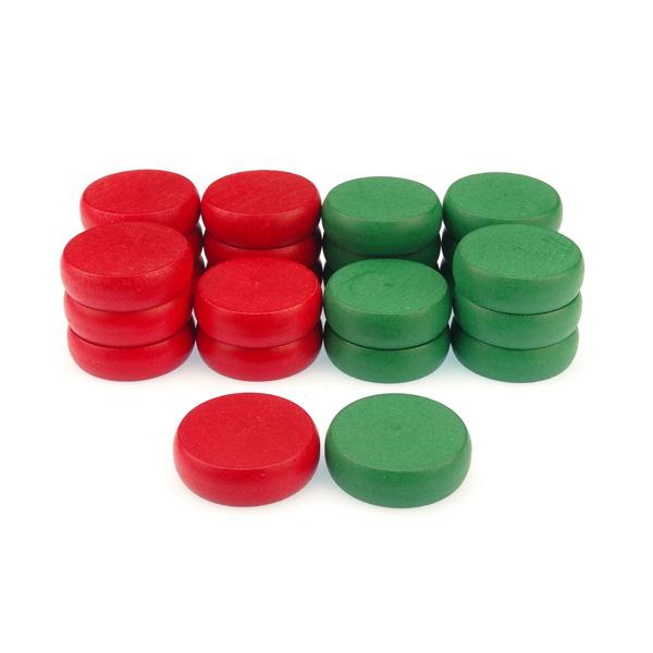 Piezas rojas y verdes de...