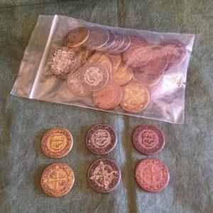 Monedas de plástico...